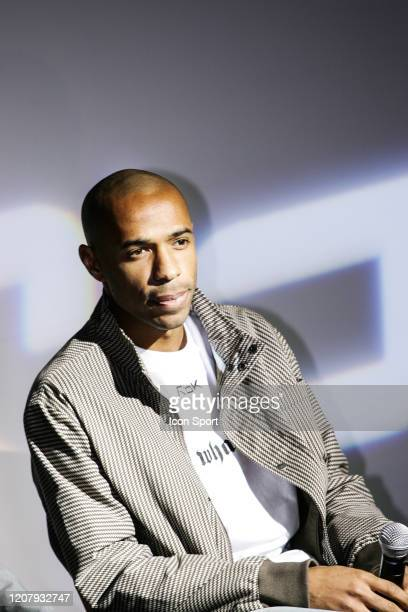 Thierry HENRY during a press conference at Reebok headquarters to become the new Reebok brand ambassador in London United Kingdom on November 7th 2006