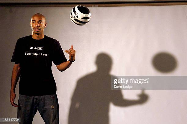 Thierry Henry during Thierry Henry and Reebok Photocall at Phonica in London Great Britain