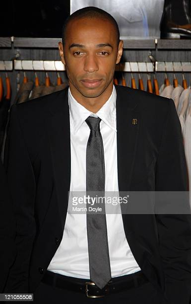 Thierry Henry Launches Tommy Hilfiger's new limited edition capsule collection on October 3 2007 in London