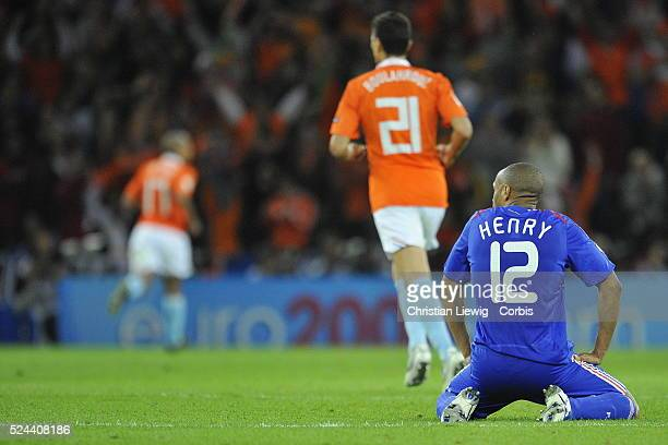 Thierry Henry looks dejected during the group C match between France and the Netherlands played in the Stade de Suisse, Bern, Switzerland.
