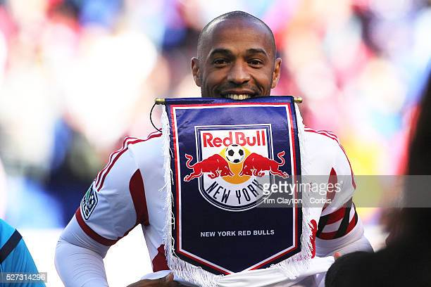 Thierry Henry, New York Red Bulls, before what could be his final game at Red Bull Arena during the New York Red Bulls Vs Columbus Crew, Major League...