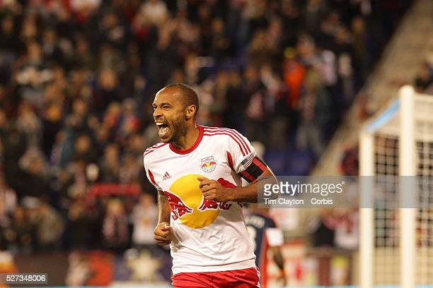 Thierry Henry, New York Red Bulls, celebrates after scoring a goal during the New York Red Bulls V New England Revolution, Major League Soccer...