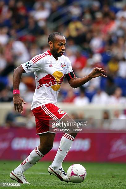 Thierry Henry, New York Red Bulls, in action during the New York Red Bulls V Chicago Fire Major League Soccer regular season match at Red Bull Arena,...