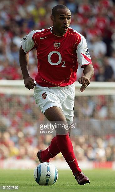 Thierry Henry of Arsenal during the Barclays Premiership match between Arsenal and Middlesbrough at Highbury on August 22 2004 in London