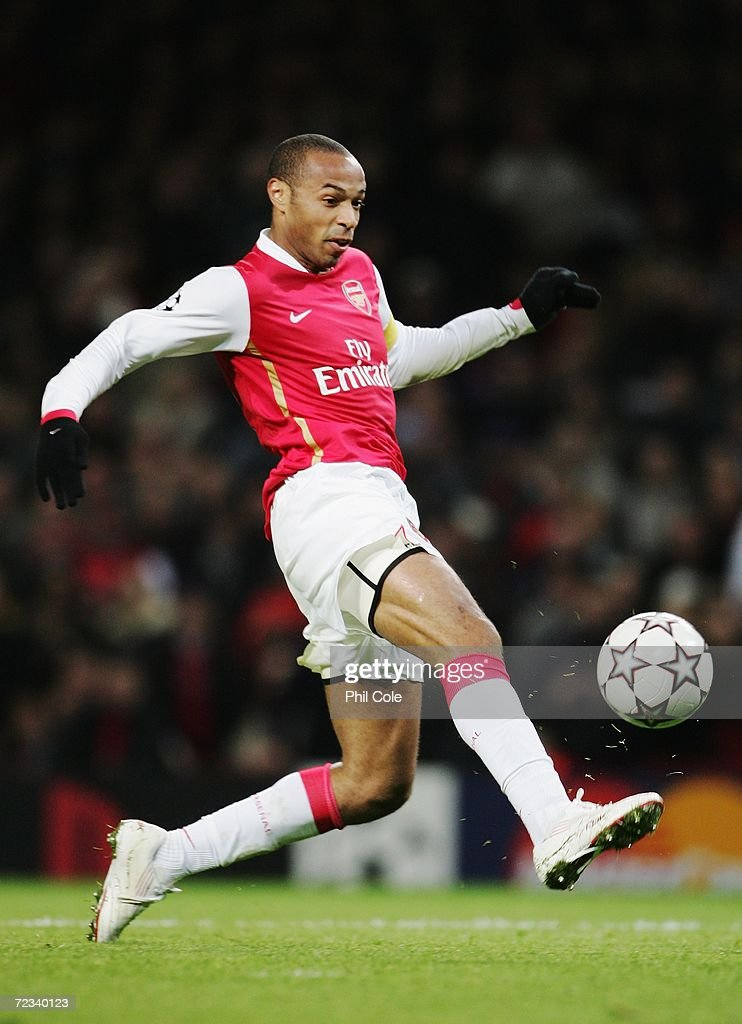 Thierry Henry of Arsenal shoots on goal during the UEFA Champions League Group G match between Arsenal and CSKA Moscow at The Emirates Stadium on November 1, 2006 in London, England.