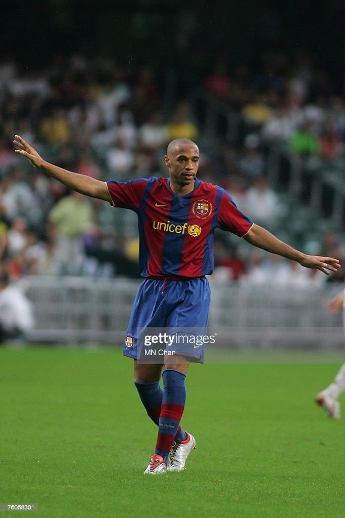 Mission hill invitation xi v barcelona photos and images getty thierry henry of barcelona in action during the friendly match between a mission hill invitation xi stopboris Image collections