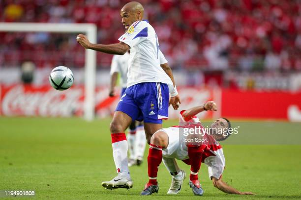 Thierry HENRY of France and Ricardo CABANAS of Switzerland during the European Championship Pool B match between Switzerland and France at Estadio...