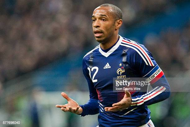 Thierry Henry of France during the second leg of the World Cup play-off football match between France and the Republic of Ireland, at the Stade de...