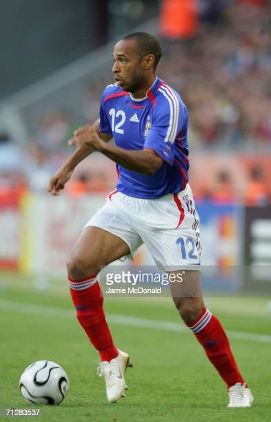 Thierry Henry of France in action during the FIFA World Cup Germany 2006 Group G match between Togo and France at the Stadium Cologne on June 23,...