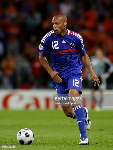 Thierry Henry of France in action during the UEFA EURO 2008 Group C match between Netherlands and France at Stade de Suisse Wankdorf on June 13, 2008...