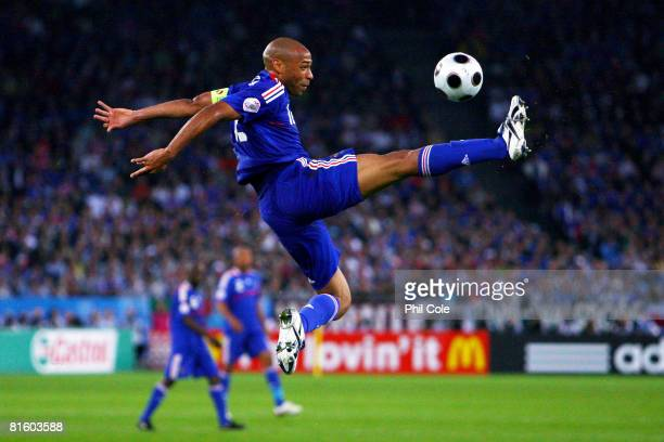 Thierry Henry of France in action during the UEFA EURO 2008 Group C match between France and Italy at Letzigrund Stadion on June 17, 2008 in Zurich,...