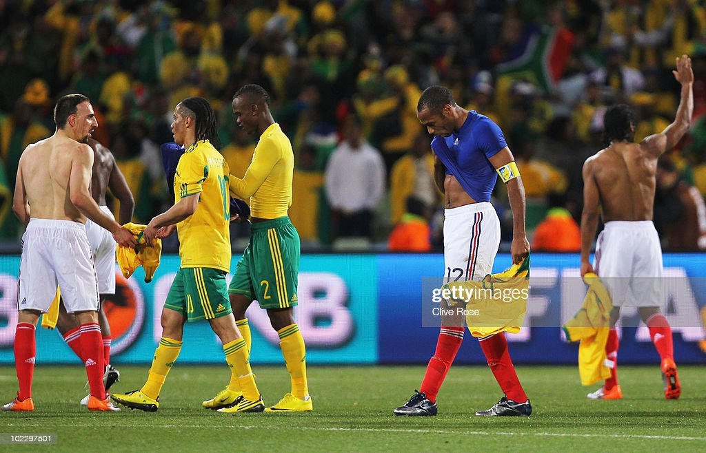 France v South Africa: Group A - 2010 FIFA World Cup : Photo d'actualité