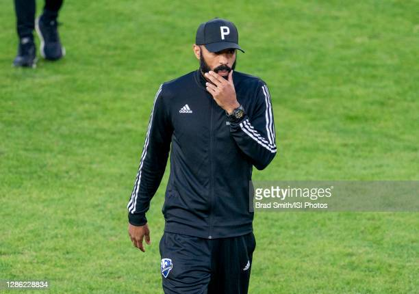 Thierry Henry of the Montreal Impact walks off the field during a game between Montreal Impact and D.C. United at Audi Field on November 8, 2020 in...