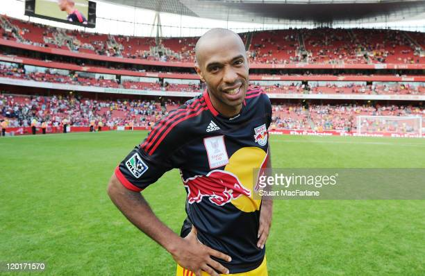 Thierry Henry of the New York Red Bulls during the Emirates Cup match between Arsenal and New York Red Bulls at the Emirates Stadium on July 31, 2011...