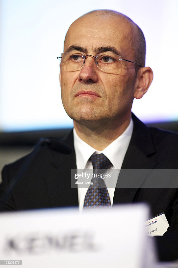 Thierry Kenel, chief financial officer of Swatch Group AG, reacts during the company's annual results news conference in Grenchen, Switzerland, on Wednesday, March 6, 2013. Swatch Group AG, the biggest maker of Swiss timepieces, fell as much as 3.1 percent in Zurich trading after Chief Executive Officer Nick Hayek sought to downplay expectations over industry growth prospects. Photographer: Gianluca Colla/Bloomberg via Getty Images