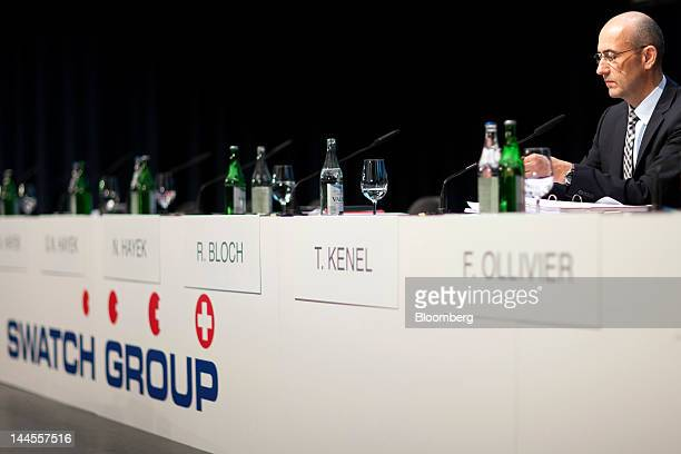 Thierry Kenel chief financial officer of Swatch Group AG waits for the company's annual general meeting to commence in Biel Switzerland on Wednesday...
