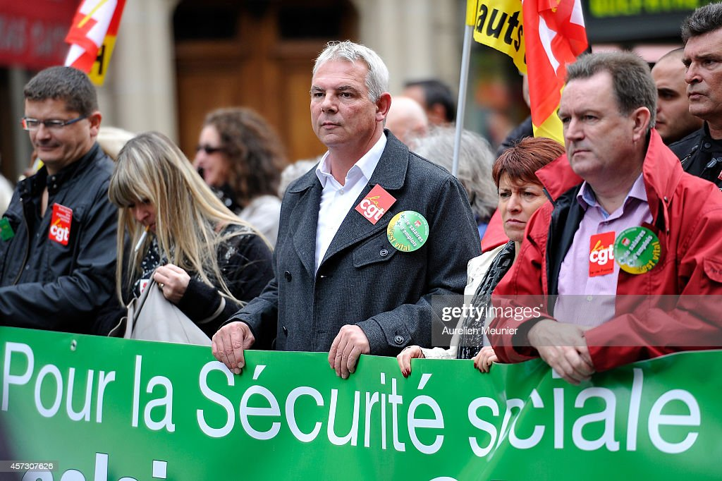 CGT Union Demonstrate To Have Better Salaries And Social Security Benefits In Paris