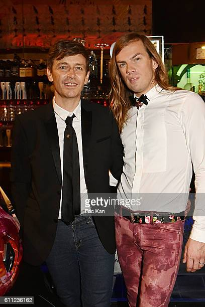 Thierry Marsaux and his husband Christophe Guillarme attend the Christophe Guillarme show as part of the Paris Fashion Week Womenswear Spring/Summer...