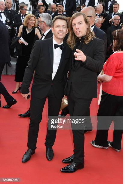 Thierry Marsaux and his husband Christophe Guillarme attend the Closing Ceremony during the 70th annual Cannes Film Festival at Palais des Festivals...