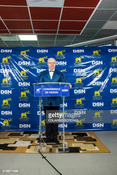 Thierry Moungalla, Congolese Minister of the Communications, Government Spokesperson and spokesperson of the electoral campaign of incumbent...