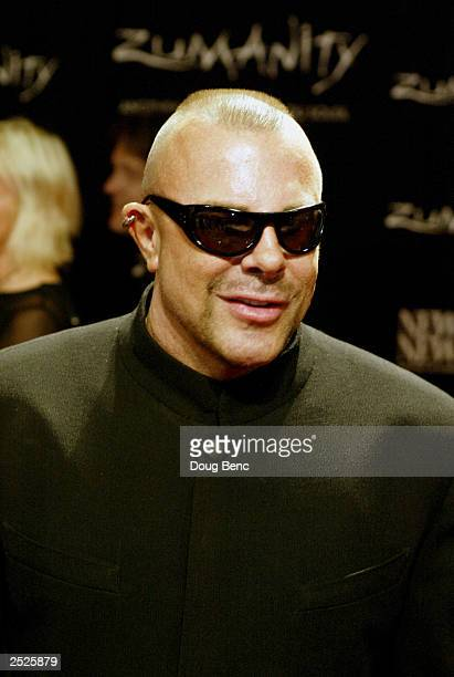 Thierry Mugler attends the International Gala Premiere of Zumanity Another Side of Cirque du Soleil on September 20 2003 at the New YorkNew York...