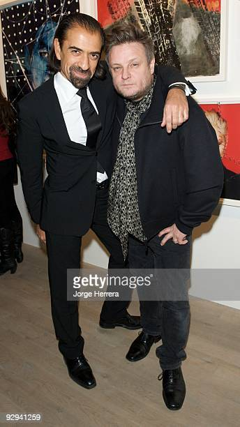 Thierry Nataf and Rankin attend the Destroy/Rankin Private View at Phillips de Pury on November 9 2009 in London England