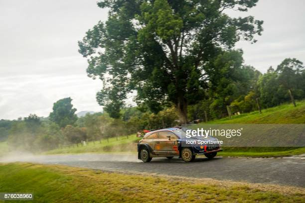 Thierry Neuville and codriver Nicolas Gilsoul of Hyundai Motorsport pass a farm letterbox on day two of the Rally Australia round of the 2017 FIA...