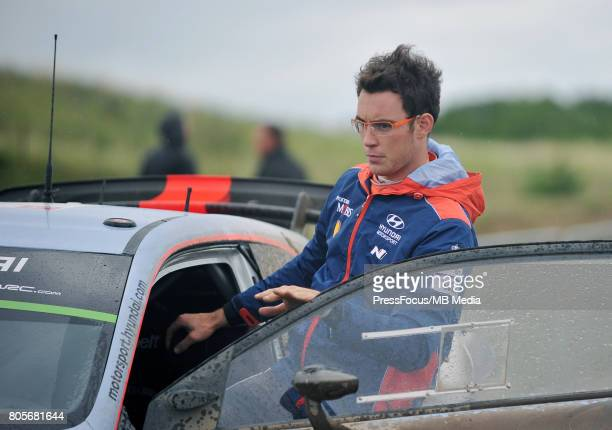 Thierry Neuville BEL Hyundai Motorsport during the WRC Orlen 74 Rally Poland on June 30 2017 in Mikolajki Poland