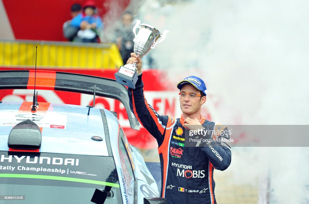 Thierry Neuville BEL Hyundai Motorsport during the WRC Orlen 74 Rally Poland Ceremonial Finish on July 02, 2017 in Mikolajki, Poland.
