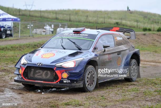 Thierry Neuville BEL Nicolas Gilsoul BEL Hyundai Motorsport during the WRC Orlen 74 Rally Poland on June 30 2017 in Mikolajki Poland
