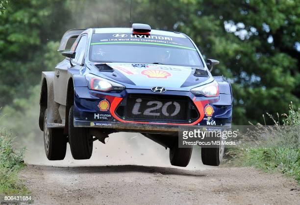 Thierry Neuville BEL Nicolas Gilsoul BEL Hyundai Motorsport during the WRC Orlen 74 Rally Poland on July 01 2017 in Mikolajki Poland