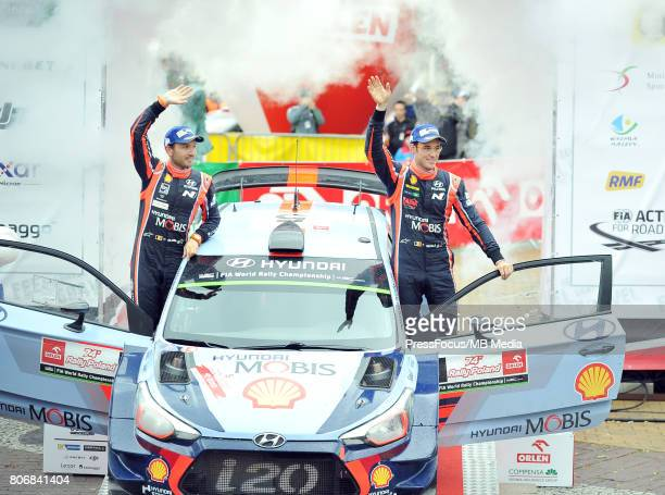 Thierry Neuville BEL Nicolas Gilsoul BEL Hyundai Motorsport during the WRC Orlen 74 Rally Poland Ceremonial Finish on July 02 2017 in Mikolajki Poland