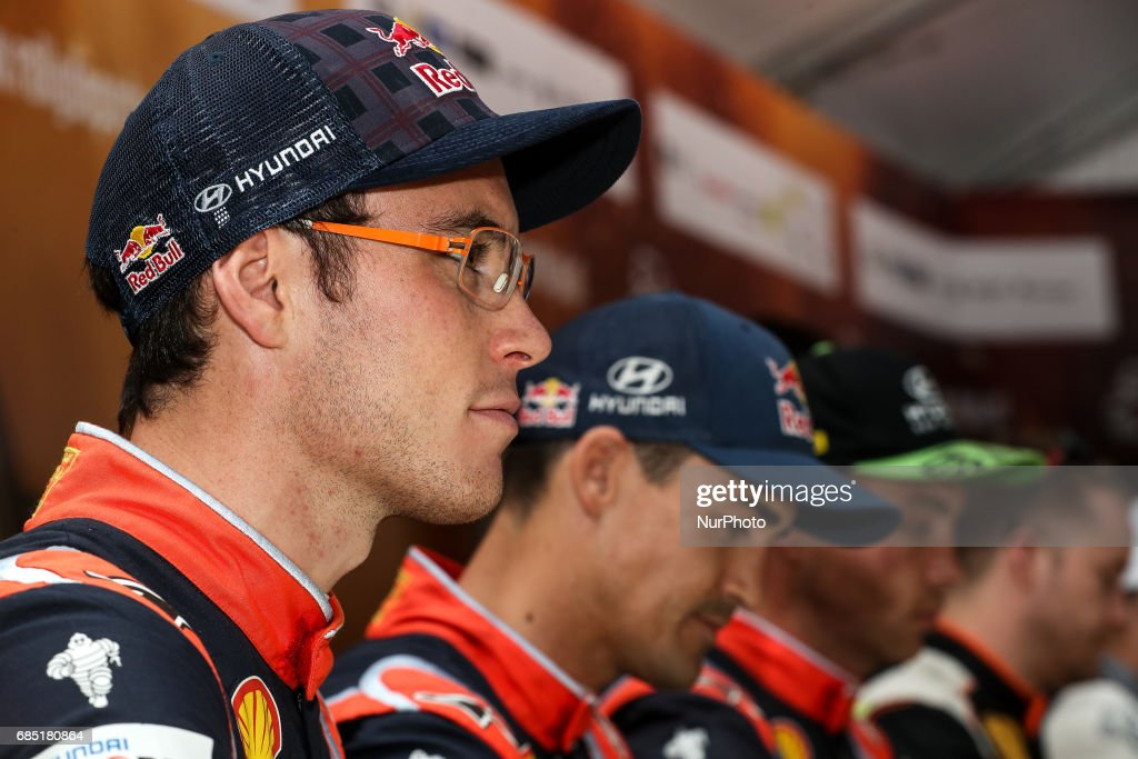 Thierry Neuville during the autograph session of WRC Vodafone Rally de Portugal 2017, at Matosinhos in Portugal on May 18, 2017.