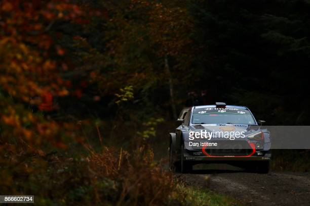 Thierry Neuville of Belgium and Hyundai Motorsport drives with codriver Nicolas Gilsout of Belgium during Shakedown for the FIA World Rally...