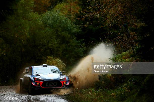 Thierry Neuville of Belgium and Hyundai Shell Mobis WRT drives with codriver Nicolas Gilsoul of Belgium during the Shakedown on day one of the FIA...