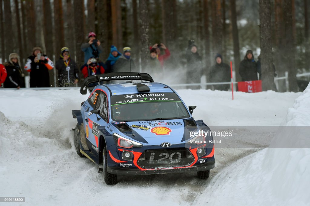 FIA World Rally Championship Sweden - Day One : Nachrichtenfoto