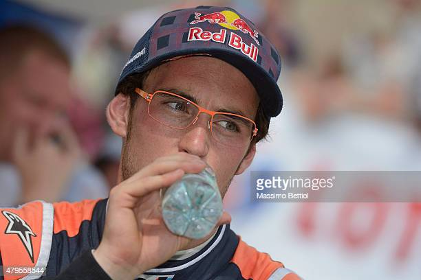 Thierry Neuville of Belgium during Day Three of the WRC Poland on July 5 2015 in Mikolajki Poland