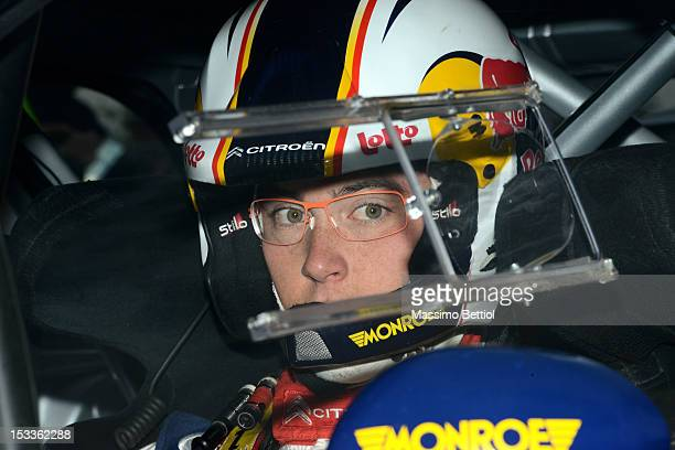 Thierry Neuville of Belgium looks on during the Shakedown of the WRC France on October 04 2012 in Strasbourg France