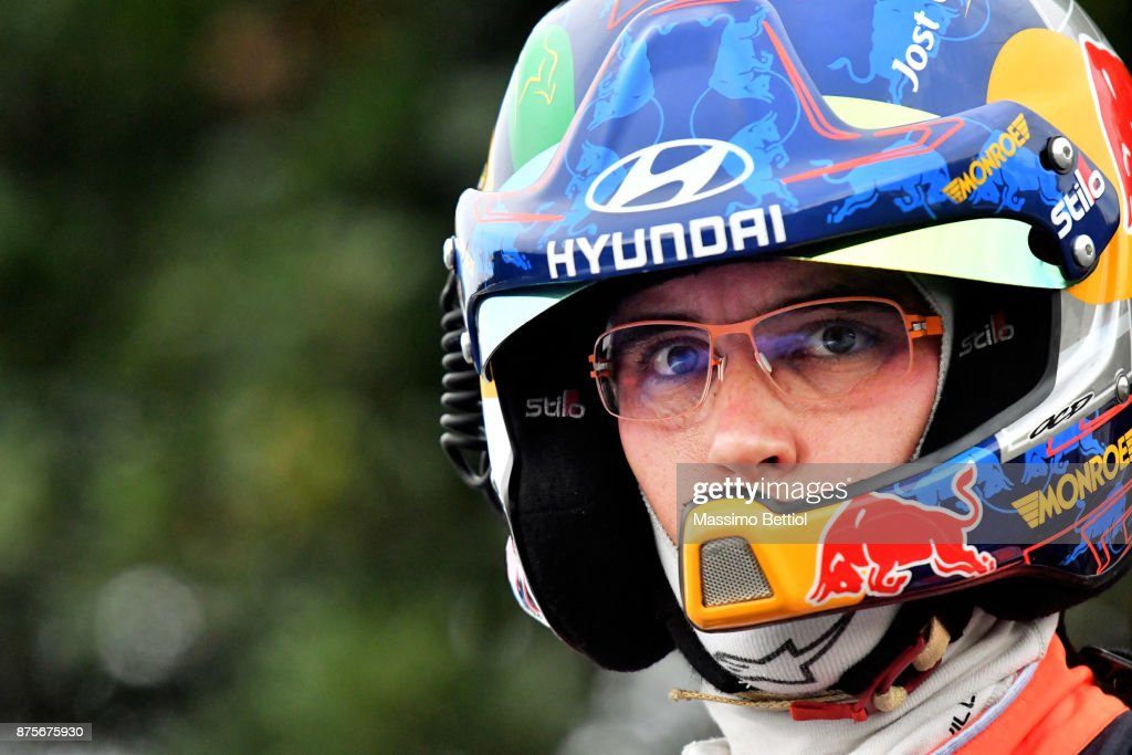 Thierry Neuville's of Belgium portrait during Day Two of the WRC Australia on November 18, 2017 in Coffs Harbour, Australia.
