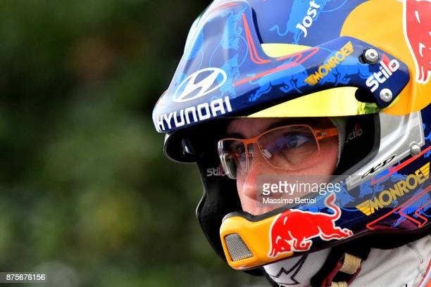 Thierry Neuville's of Belgium portraits during Day Two of the WRC Australia on November 18 2017 in Coffs Harbour Australia