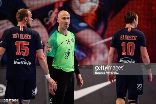 Thierry Omeyer of Paris Saint Germain during the Lidl Starligue match between Paris Saint Germain and Pays d'Aix Universite Club at Stade Pierre de...