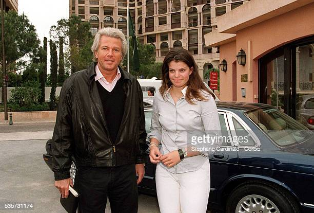 Thierry Roussel with his daughter Athina