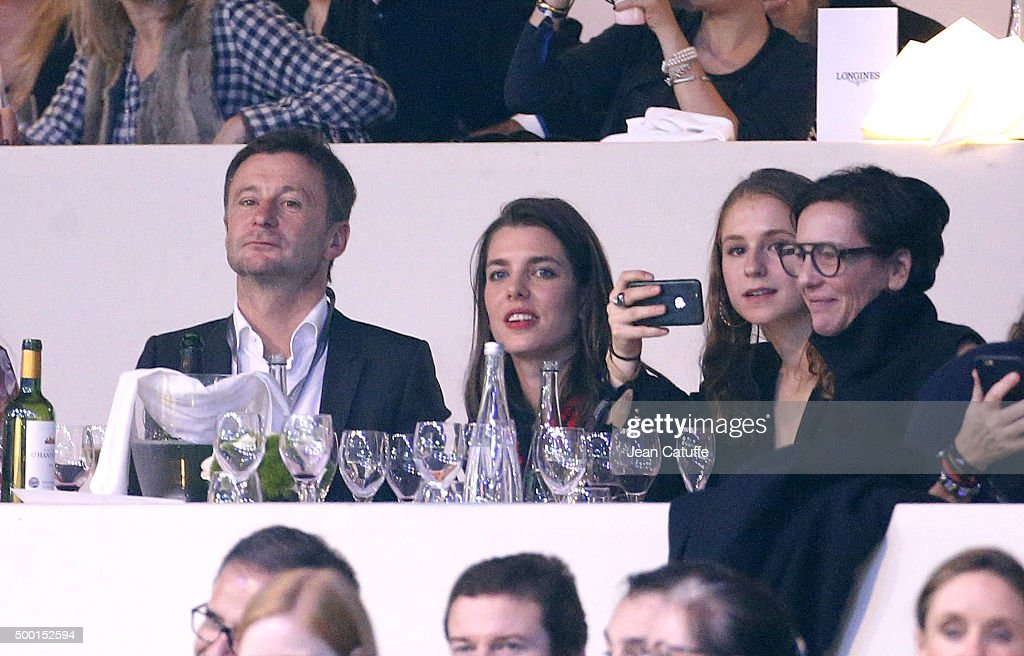Thierry Rozier and Charlotte Casiraghi attend the 'Style and Competition' show jumping charity event benefitting 'AMADE' on day three of the Longines Paris Masters 2015 held at the Paris-Nord Villepinte Exhibition Center on December 5, 2015 in Villepinte nearby Paris, France.