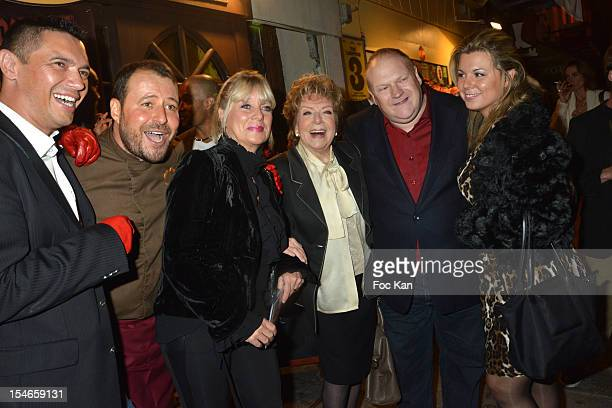 Thierry Saint Jean from 2 Mains Rouges Marc Mitonne Veronique Nery Mercadier Marthe Mercadier Franck de La Personne and Cindy Lopes attend the 'Les...