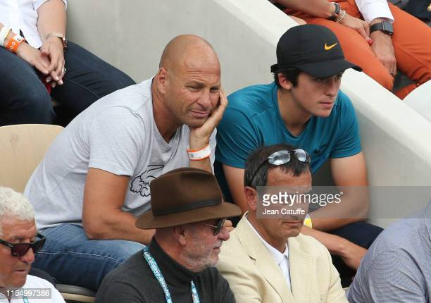 Thierry Tulasne attends the men's final during day 15 of the 2019 French Open at Roland Garros stadium on June 9 2019 in Paris France