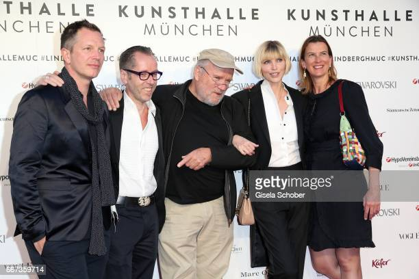 ThierryMaxime Loriot Roger Diederen director Kunsthalle Muenchen Photographer Peter Lindbergh Nadja Auermann and Emily Ansenk director Kunsthalle...