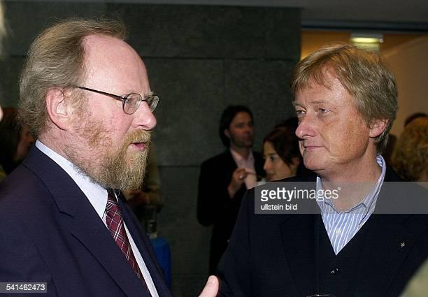 Thierse Wolfgang * Politiker SPD D mit HansUlrich Joerges stellv Chefredakteur des Magazin 'Stern'