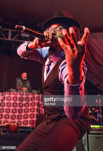 Thievery Corporation performs in concert at Stubb's BarBQ on April 29 2014 in Austin Texas
