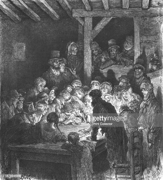 """Thieves Gambling', 1872. From, """"LONDON. A Pilgrimage"""" by Gustave Dore and Blanchard Jerrold. [Grant and Co., 72-78, Turnmill Street, E.C., 1872]...."""