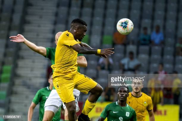 Thievy Bifouma of Yeni Malatyaspor in action during UEFA Europa League second qualifying round soccer match between Yeni Malatyaspor and Olimpija...